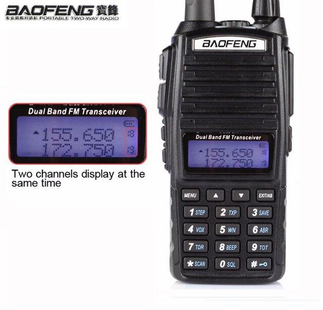 แบบพกพา 2 Way วิทยุ Walkie Talkie 10 km CB HAM วิทยุสมัครเล่นสำหรับ VHF UHF Dual Band UV 82 UV82 Baofeng UV 82 PLUS