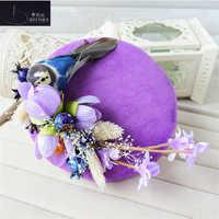 Vintage Wedding Hat Flower Wedding Party Women Hat Wedding Accessories