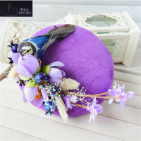 Vintage Wedding Hat Flower Wedding Party Women Hat Wedding Accessories