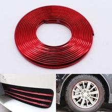 4 м/8 м автомобильный Стайлинг красный бампер молдинг отделка