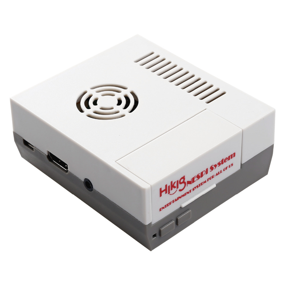 Reyann Mini NESPi NES Case for Raspberry Pi 3, 2 and B+ RetroPie classic arcade game console with cooling vents design & screws