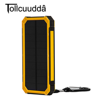 Tollcuudda 10000mAH External Solar Power Bank Universal Travel Charger For IPhone 6 6S 7 Plus Phone