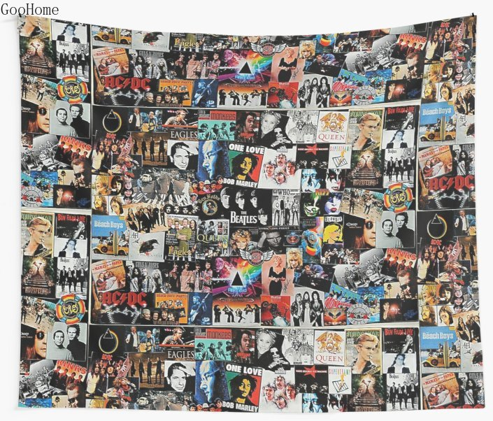 Rock Collage Wall Tapestry Cover Beach Towel Throw Blanket Picnic Yoga Mat Home Decoration