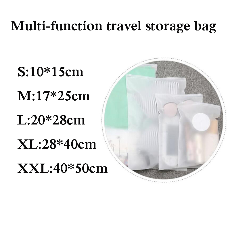 25a90bd0aa19 US $0.49 40% OFF|eTya Travel Transparent Cosmetic Bag Shoes Clothing  Luggage Box Travel Accessories Clothes Wash Toiletries Organizer Makeup  Bags-in ...
