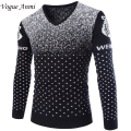 autumn and winter fashion men's sweater pullover sweater mens slim thicken sweater men's clothing brand