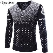 Осенне-зимней моды мужской свитер пуловер свитер мужской тонкий сгущает свитер мужская одежда марки