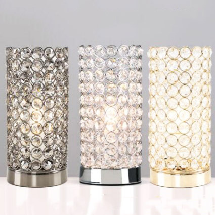 YOOK 2018 LED lampe de Table en cristal lampe de Table chambre à coucher pour étude en fer forgé lampe de Table E14 110 V 220 V