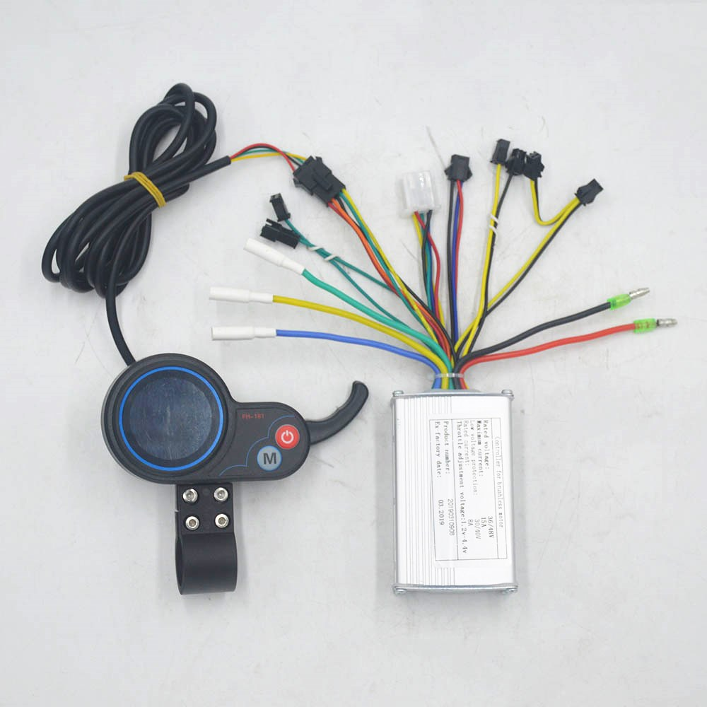 24V/36V/48V 250W/350W Ebike Controller Speed BLDC LCD Display With Throttle Shifter Screen For Electric Scooter/ebike/escooter