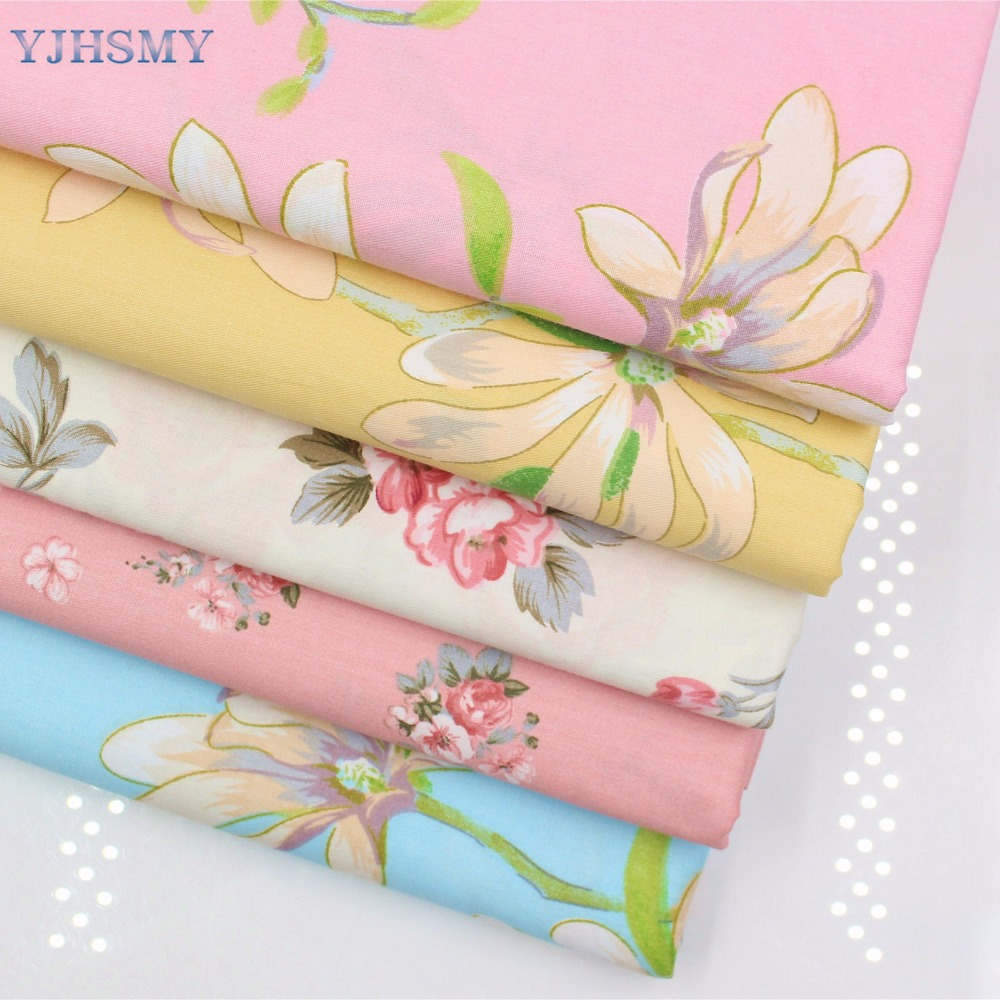 YJHSMY 175103,flower cotton fabric,width 50 x160cm/pcs,DIY handmade crib bedding sets,pi ...