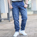 SINYIT 2016 Fashion Brand Clothing Plus Size Baggy Loose Hip Hop Solid Broken Men Casual Jeans Denim Pants Overalls 40 42 44 46