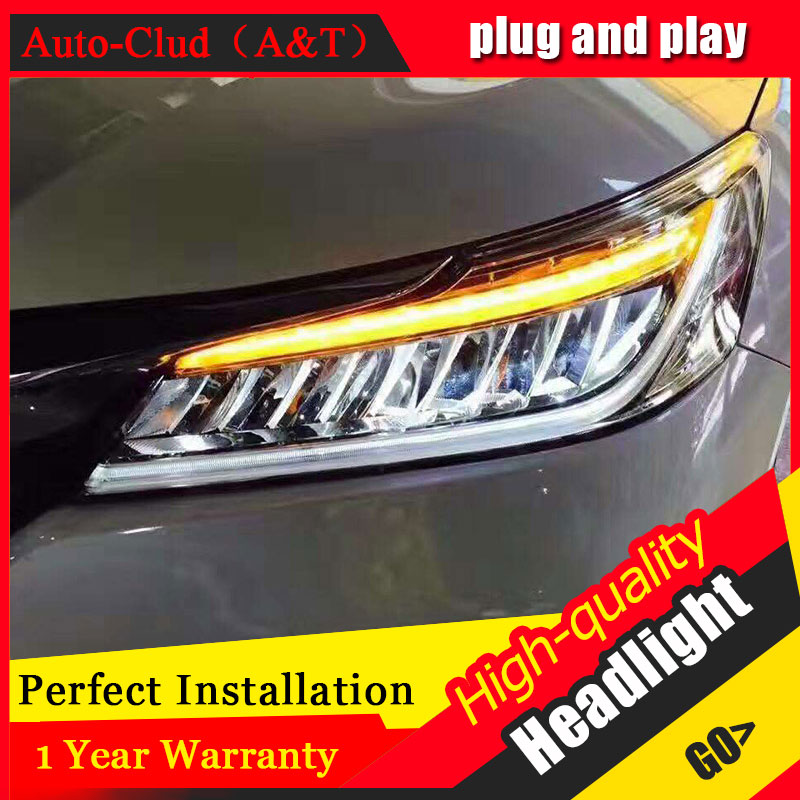 Auto Clud Car Styling For Honda Accord headlights 2016 For Accord head lamp led DRL front Bi-Xenon Lens Double Beam HID KIT