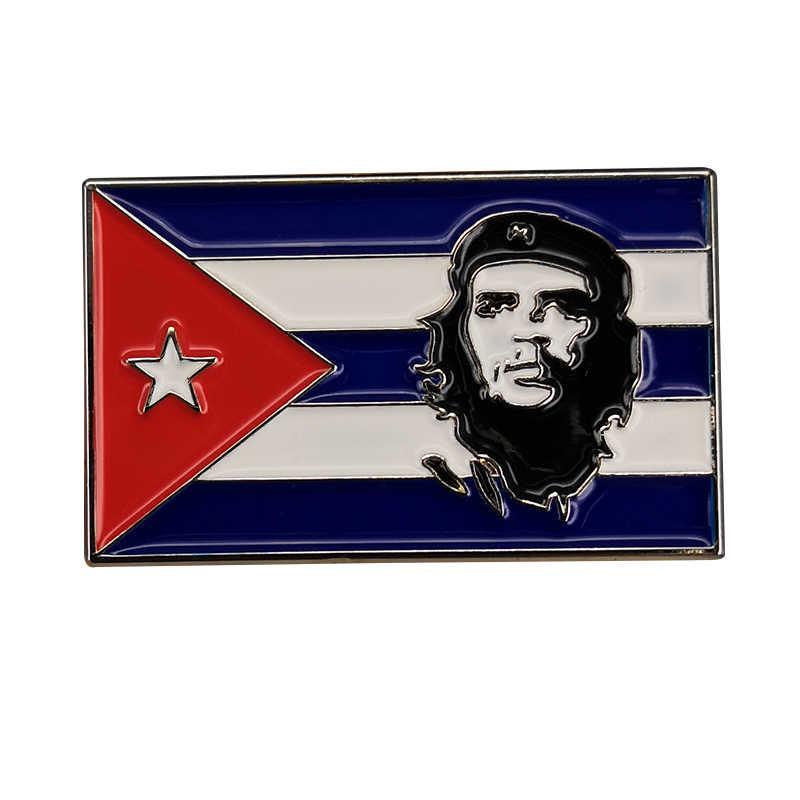 العلم الكوبي تشي غيفارا بروش المينا دبوس