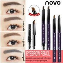 NOVO Hexagonal Automatic Eyebrow Pencil Rotation Double Head Eyebrow Pencil Wate
