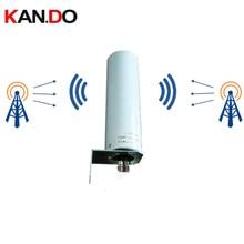 بيانات المصنع 12dbi 4G هوائي لا كابل في الهواء الطلق 698 2700MHz 4G LTE هوائي هوائي متعدد الاتجاهات لمكرر التوجيه