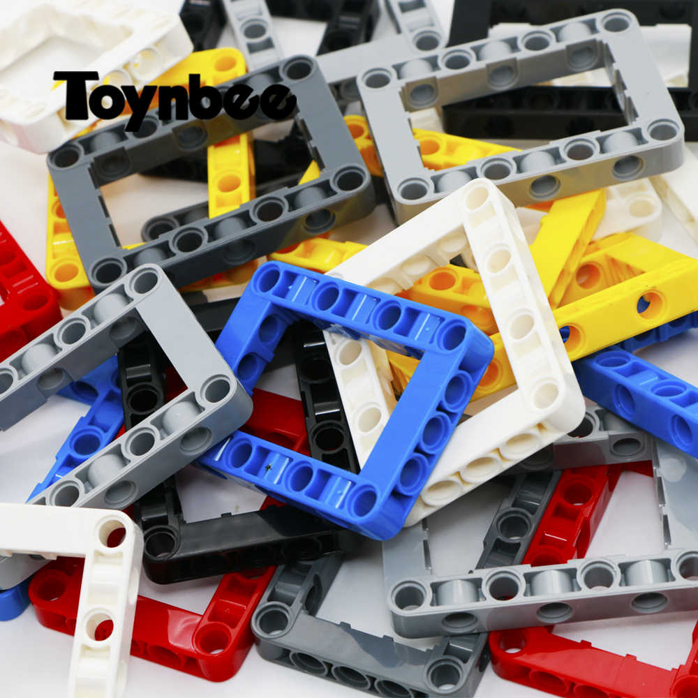 Technic 5x7 Beam Beam Frame Square Building Blocks MINDSTORMS maszyna samochodowa NXT MOC cegły zabawki kompatybilne Techinc 64179 części