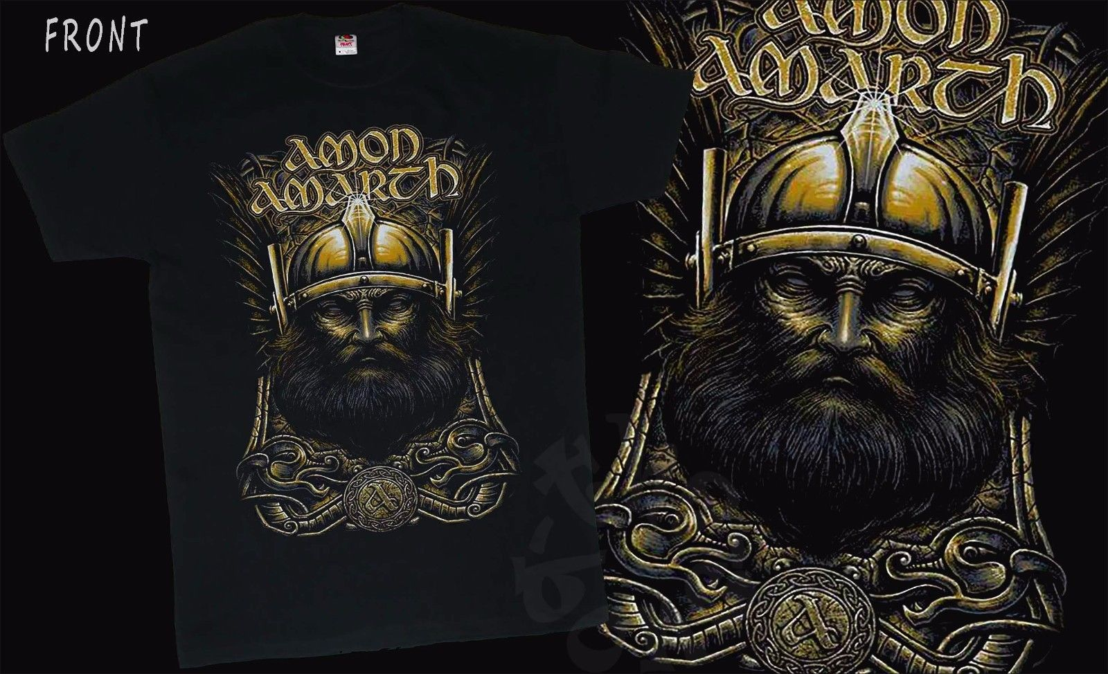 AMON AMARTH-Melodic viking death metal band,T-shirt-SIZES: S to 7XL Short Sleeve Cotton  ...