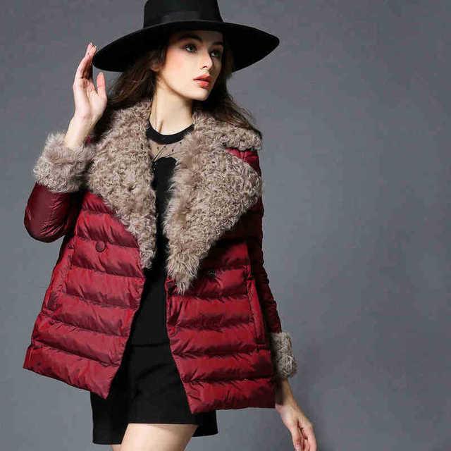 Mulheres Inverno Quente Grossa Para Baixo Casaco Feminino Outerwear Casaco de Lã