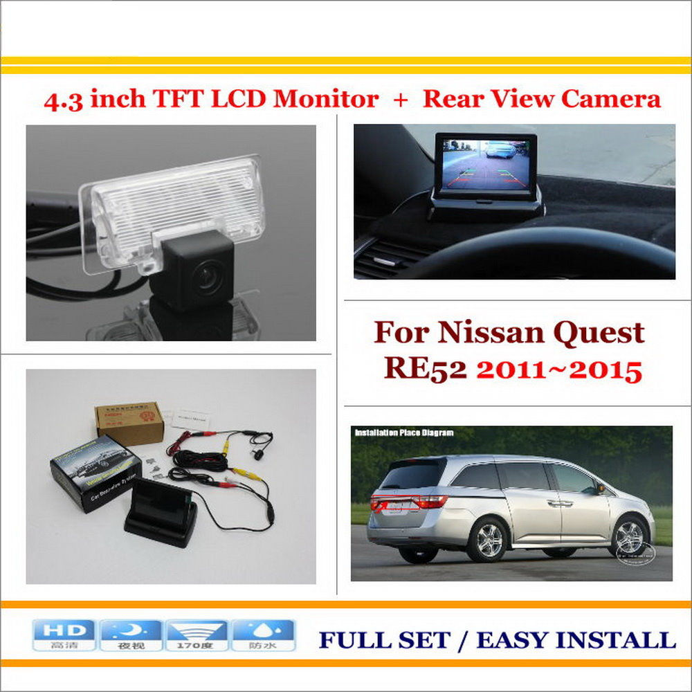 Popular cameras nissan quest buy cheap cameras nissan quest lots car reverse backup rear camera 43 tft lcd screen monitor 2 in 1 vanachro Choice Image