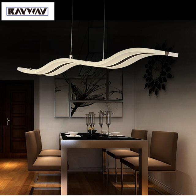 Rayway Modern Chandelier Dimmable S Shape Led Light White Acrylic Use For Dinning