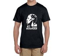 Dennis Rodman 91 cool printed T-Shirt 100% cotton t shirts Mens boyfriend gift T-shirts for fans 0227-3