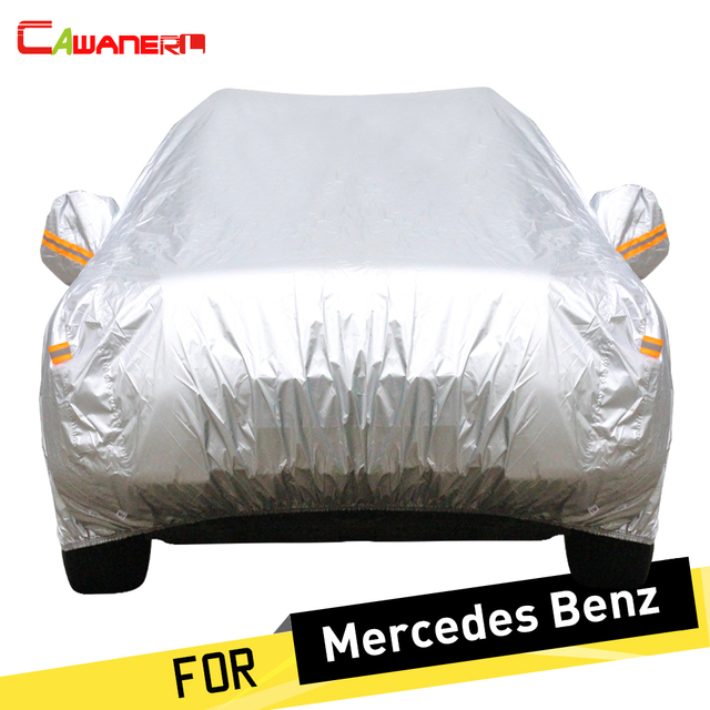 Cawanerl Full Car Cover Rain Anti UV Sun Snow Protection Cover Dust Proof  For Mercedes