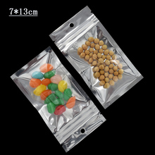 7*13cm(2.75x5.1) Mini Plastic Zip Bag Clear Aluminum Foil Ziplock Storage Pouches Flat Self Seal Mylar Candy 2000Pcs