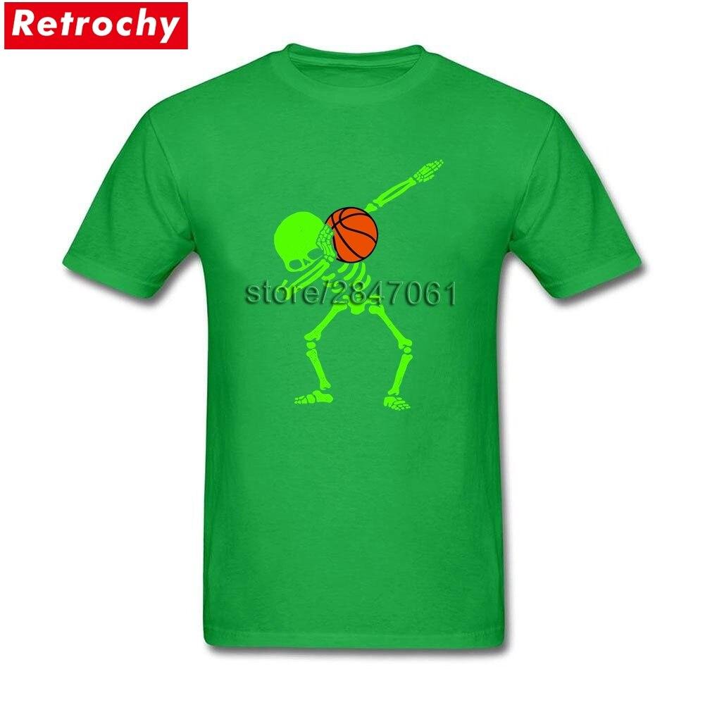 2017 Brand 80S T-Shirts Dabbing Skeleton Basketball Dab Men Stylish Fit Short Sleeves Plain Shirts Men Oversized Merchandise
