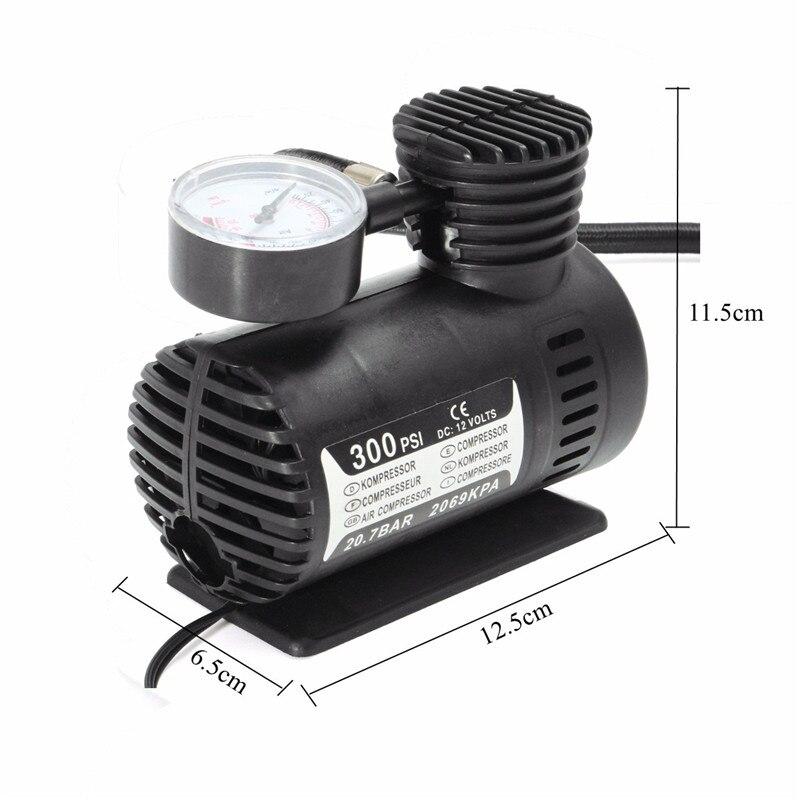 DC 12V 300 PSI Air Compressor Pumps Portable Mini Auto Car Bicycle Electric Tire Inflator Pump