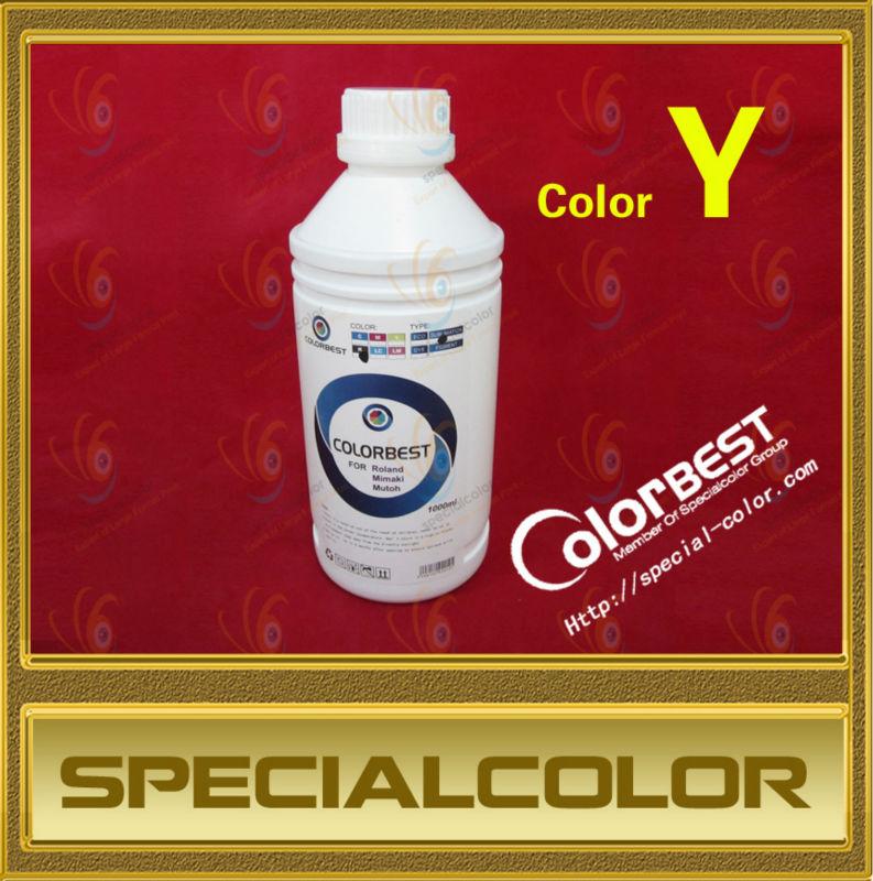 100% Compatible 1000ml/Bottle, Textile Pigment Ink In Bottle Roland/Mimaki/Mutoh Color Y hot sale 1000ml 4 color eco solvent ink in bottle compatible for roland mimaki mutoh printer