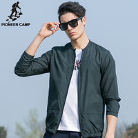 Pioneer Camp Casual Zipper Spring Summer Jacket Men Thin Soft Sun Protective Clothing Breathable Quick Dry