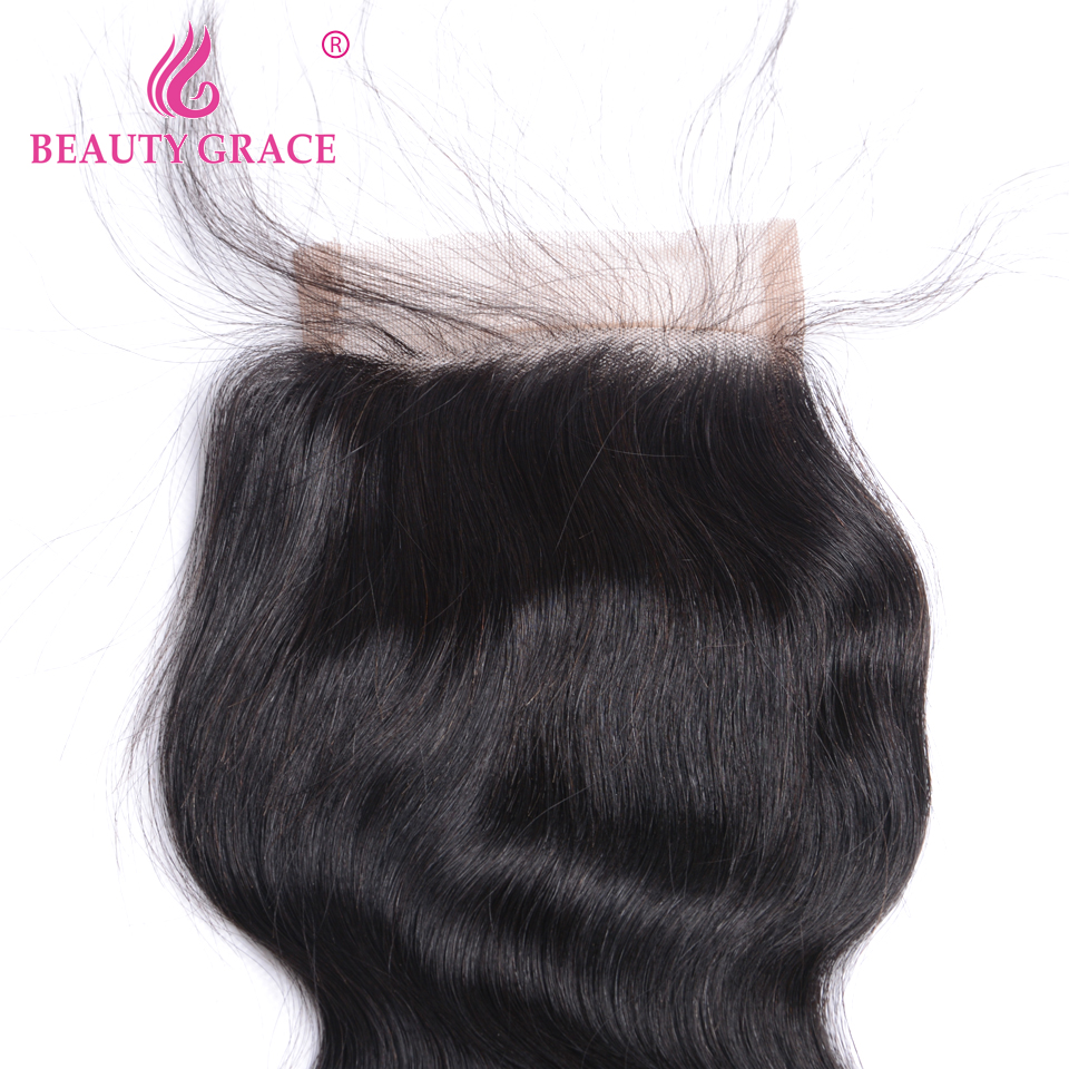 Image 3 - Beauty Grace Peruvian Hair Body Wave Lace Closure With Baby Hair 4x4 Remy 100% Human Hair Middle Free Three Part Top Closures-in Closures from Hair Extensions & Wigs