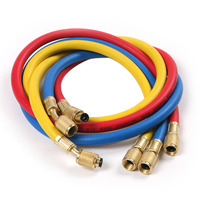 3pcs R12 R22 R502 Refrigerant Charging Hose Mayitr Automobile Car Air Conditioner Hoses With Copper Fittings