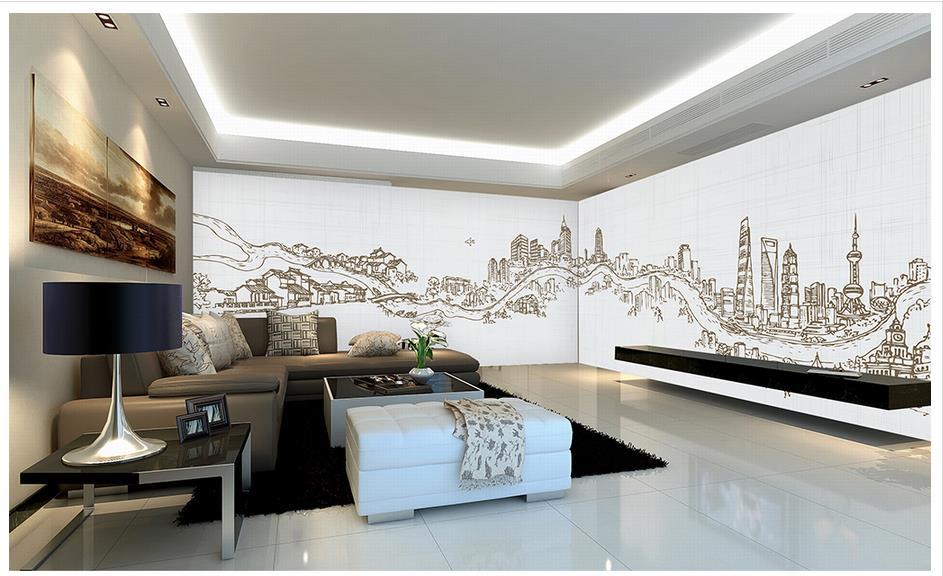 Aliexpress.com : Buy 3d Wallpaper 3d Murals Wallpaper For Walls 3 D Wall  Paper Hand Painted City Road Building Large Murals Wall Decor Room  Wallpaper From ...