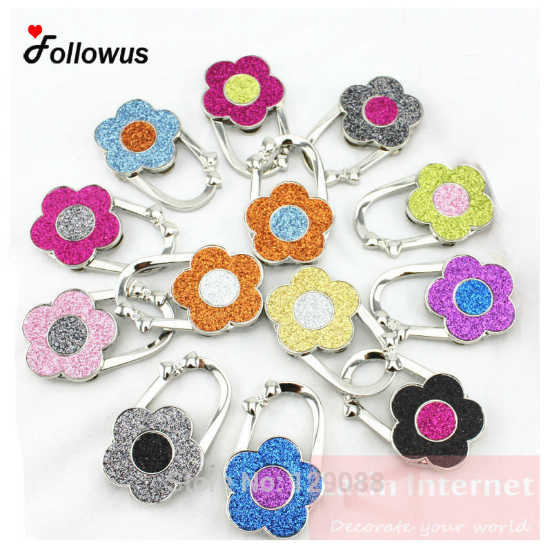 New Style Bag Hook 13 Color Flower Purse Hanger Hooker Bolsos Holder Lowest Price Whole Sale Bag Hanger Colorful джон ли хукер john lee hooker cook with the hook 2 cd dvd