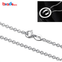 Beadsnice Высокое качество чистый 925 пробы серебро Роло цепь Цепочки и ожерелья чистого серебра Цепочки и ожерелья Цепь для элегантный дизайн ID28814