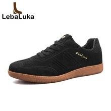 LebaLuka Men Vulcanized Shoes Classics Round Toe Lace Up Flats Shoes Fashion Shoes Male Footwear Size 39-44