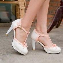 Big Size 33-43 Women Pumps Sweet Bowtie Shoes