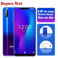OUKITEL U23 6.18 Notch Display Mobile Phone 6G 64G Wireless Charge Android 8.1 MTK6763T Helio P23 Octa Core Face ID Smartphone