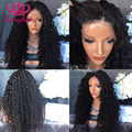 Soft kinky curl synthetic lace front wig glueless black heat resistant synthetic lace front wig for black women afro curly wig