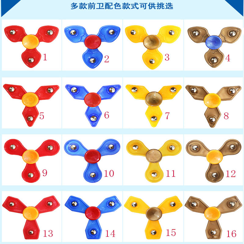 Hand Spinner ABS Tri-Spinner Fidgets Toy EDC Sensory Fidget Spinner For Autism and ADHD Kids/Adult Funny Anti Stress Toys