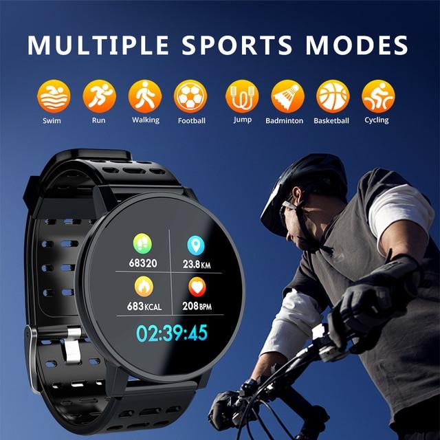 Makibes T3 Smart watch waterproof Activity Fitness tracker HR Blood oxygen Blood pressure Clock Men women smartwatch PK V11 2