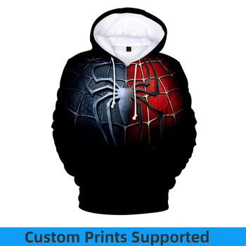 Anime Hoodies Sweatshirt Men 3d Printing Spider Man Far From Home Sweatshirt Harajuku Streetwear Hoodie Cosplay Endgame Custom