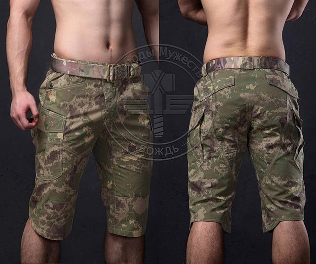 Tactique extérieur CP Camouflage Capri hommes coton Polyester recadrée pantalon à séchage rapide militaire short de randonnée