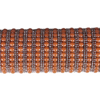 1Sheet Beads Crystal Orange Motif Rhinestones Patches Roll Trim Iron On Hotfix Strass Applique for Clothes Decorative T2483