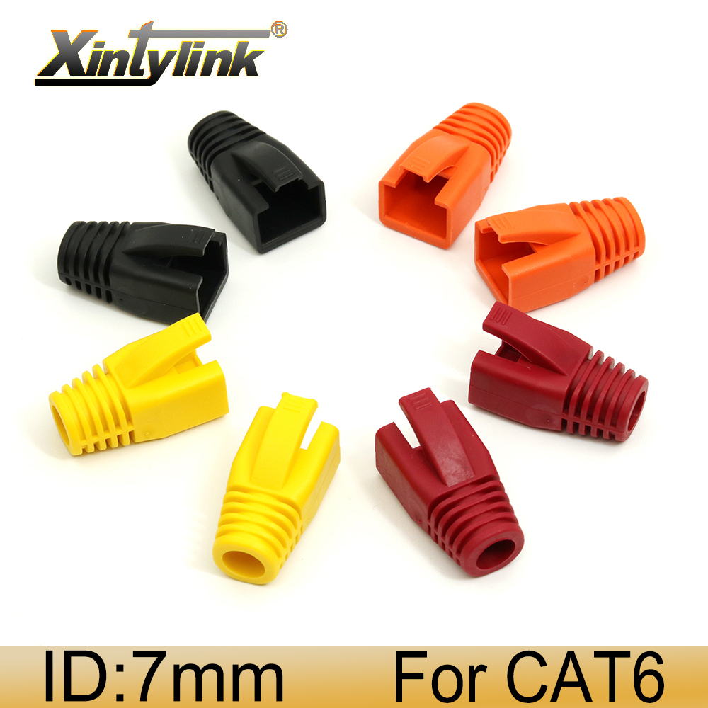 100 Pcs Network RJ45 Cable Ends Plug Connector Cover Boot Cap Cat6 Cat5 Green