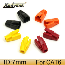 xintylink rj45 ethernet cable connector cover caps cat6 network boots rg 45 sheath cat5 cat5e protection multicolour 50 100pcs цена и фото