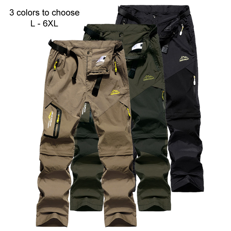 Image 3 - LoClimb Men's Summer Removable Hiking Pants Outdoor Camping Trip Trousers Man Trekking Pants Khaki Mountain Sports Shorts AM002-in Hiking Pants from Sports & Entertainment