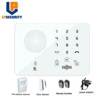 LPSECURITY беспроводной GSM SMS Домашний Уход за пожилыми людьми сигнализация с сенсорной панелью SOS Android телефон управление с pir движения/датчик двери