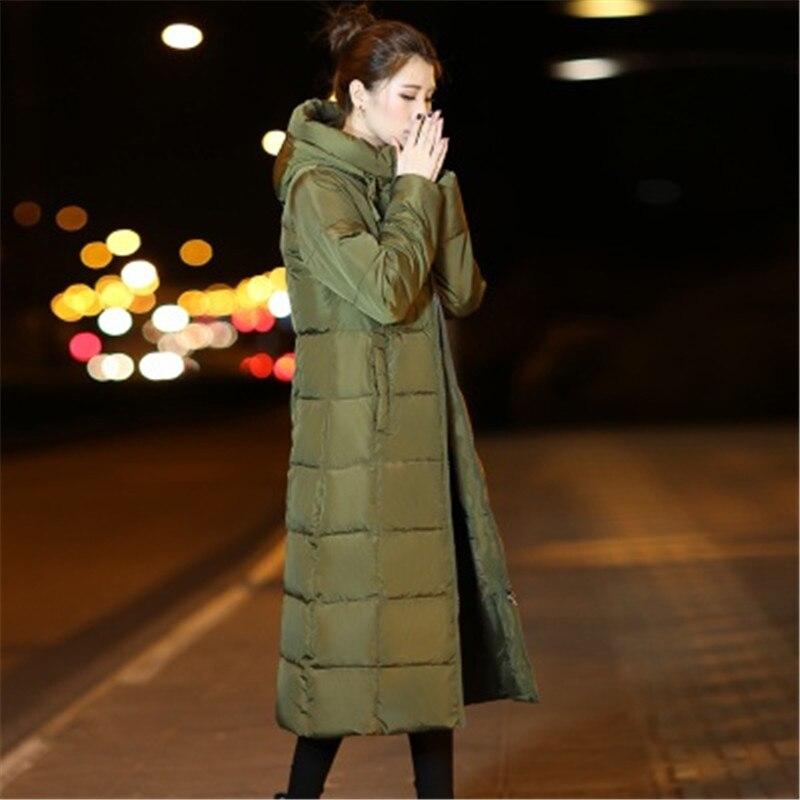 Parka gray Moyen Mince Mode Manteau 2017 Bas Femmes Ms De green Long Épais Le X41 Veste Capuche Black Coton D'hiver Chaud Vers wZqvRYx