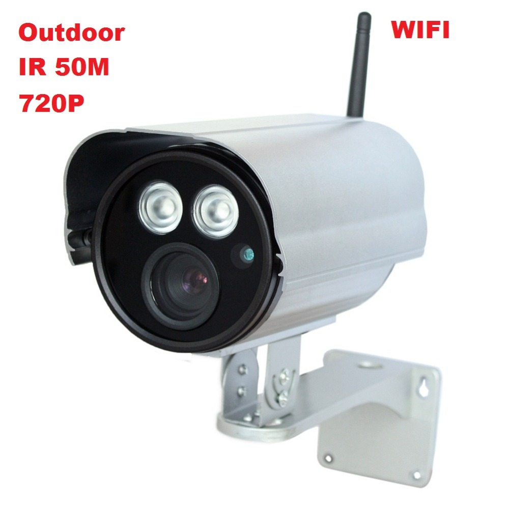 ФОТО Outdoor water proof 720P HD wireless wifi long distance ir 50m night vision bullet cctv security network ip camera